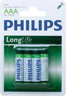 Baterie Longlife AAA (R 03) Philips blister