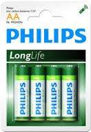 Baterie Longlife AA (R 6) Philips blister